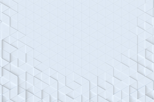 927104724 istock photo White triangle tiles seamless pattern, 3d rendering background. 927101482