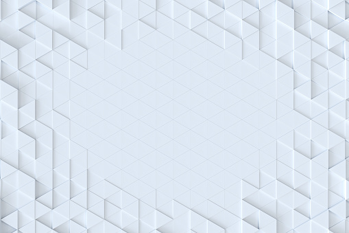 927104724 istock photo White triangle tiles seamless pattern, 3d rendering background. 927101874