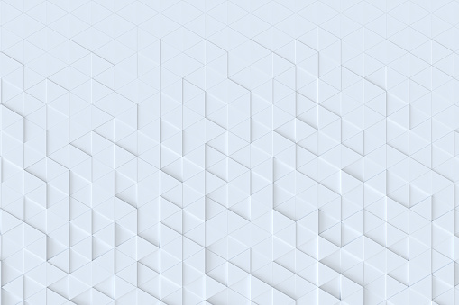 927104724 istock photo White triangle tiles seamless pattern, 3d rendering background. 927104148