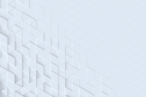 927104724 istock photo White triangle tiles seamless pattern, 3d rendering background. 927104390