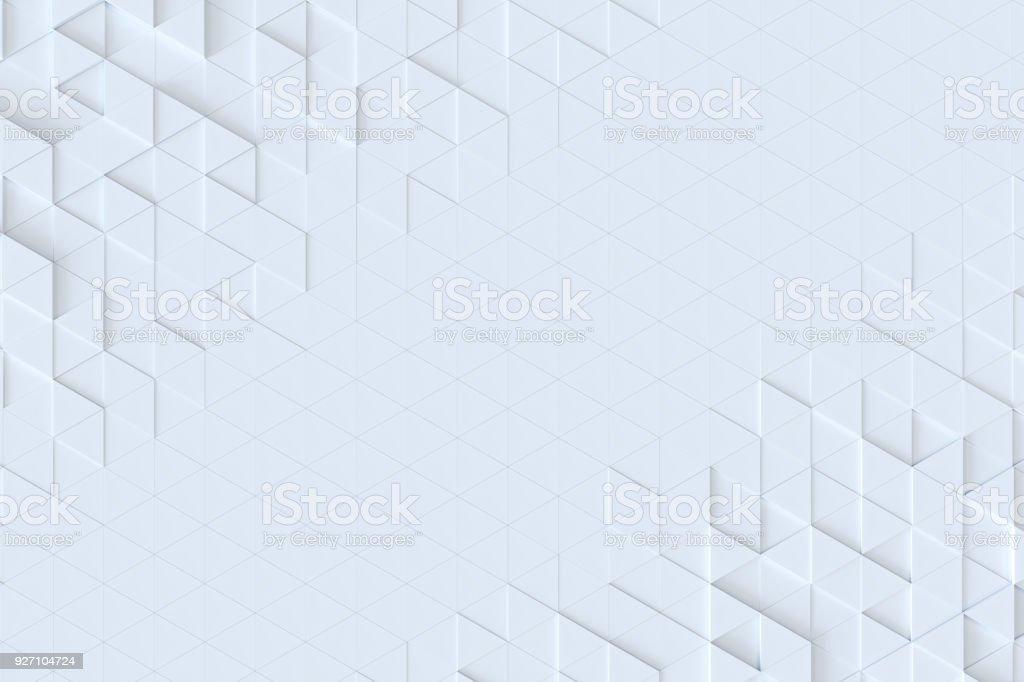 Beyaz üçgen çini seamless modeli, 3d işleme arka plan. - Royalty-free Arka planlar Stok görsel