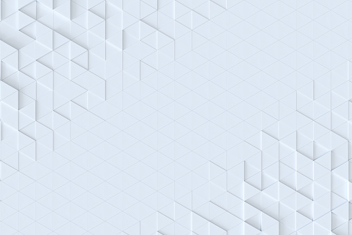 927104724 istock photo White triangle tiles seamless pattern, 3d rendering background. 927104724