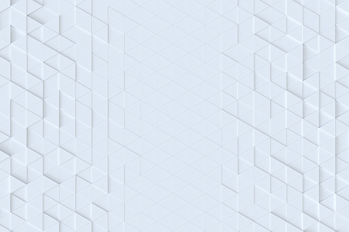 927104724 istock photo White triangle tiles seamless pattern, 3d rendering background. 927105166