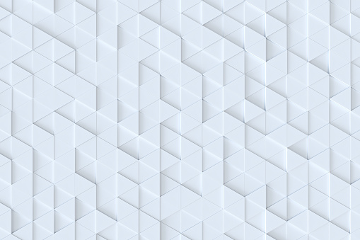 927104724 istock photo White triangle tiles seamless pattern, 3d rendering background. 927107554