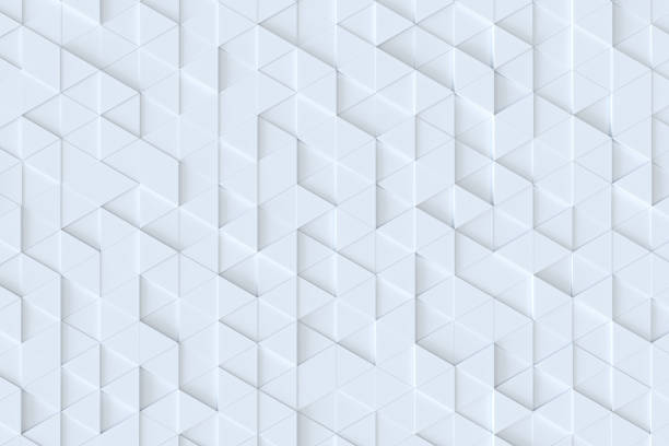 White triangle tiles seamless pattern, 3d rendering background. White triangle tiles seamless pattern, 3d rendering background. two dimensional shape stock pictures, royalty-free photos & images