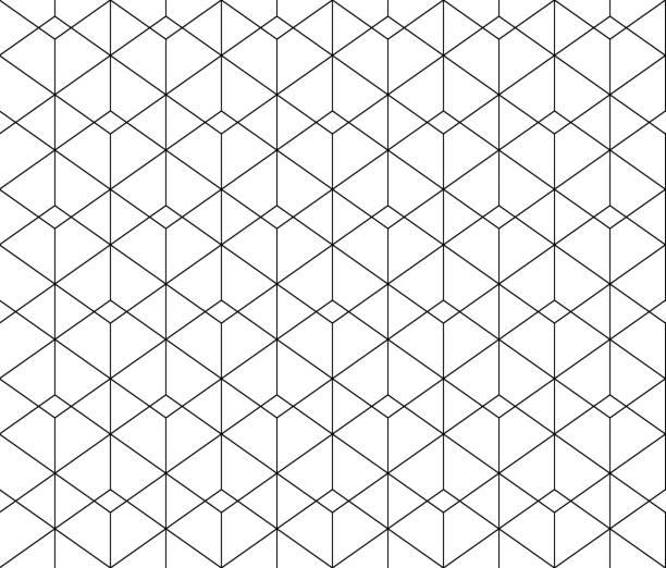White triangle tiles texture, seamless pattern graphic background. illustration stock photo
