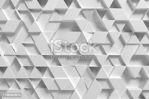 517581264 istock photo White Triangular Abstract Tiles 1198963924