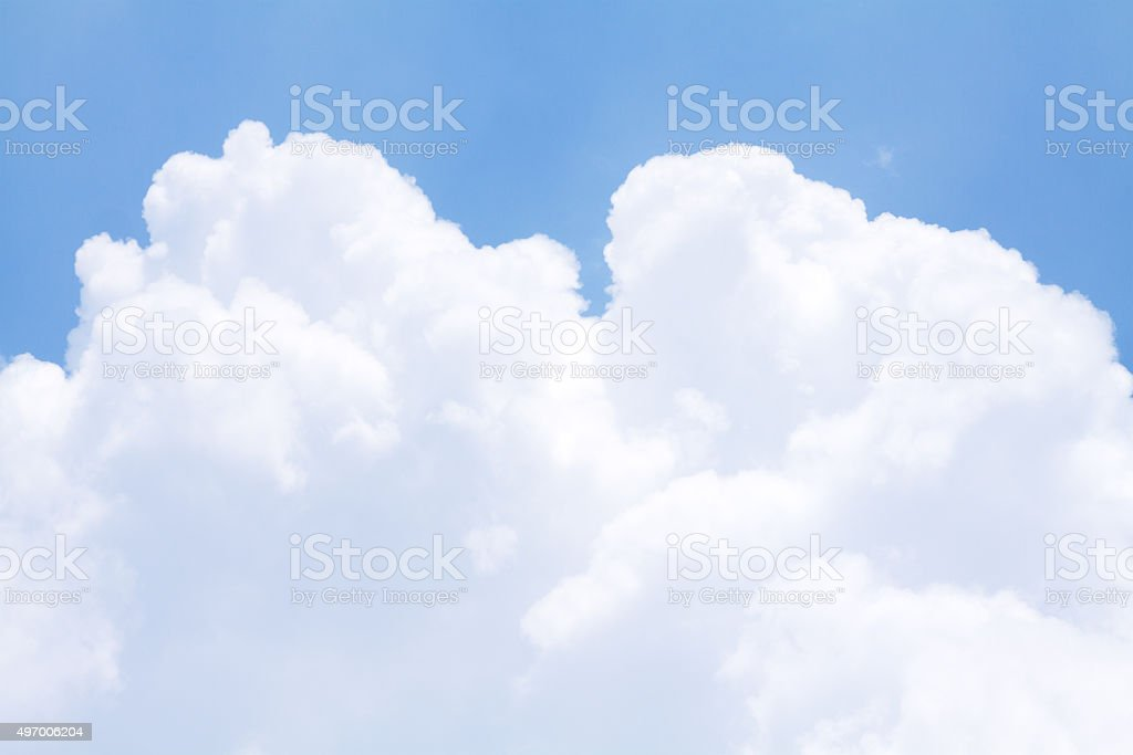 White tropical cumulus cloud stock photo