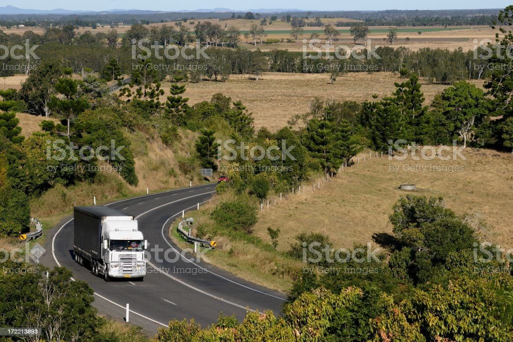 White Truck Bend royalty-free stock photo