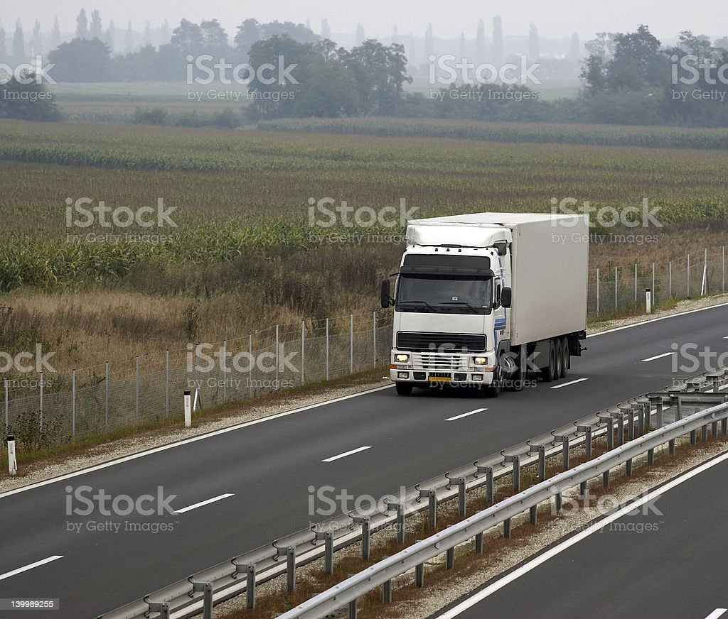 White truck royalty-free stock photo