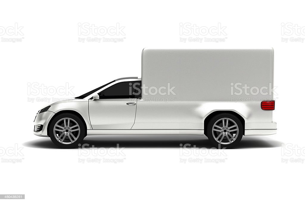 White truck ready for branding royalty-free stock photo