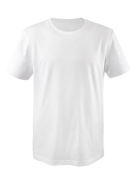 white t-shirt - white tshirt stock photos and pictures