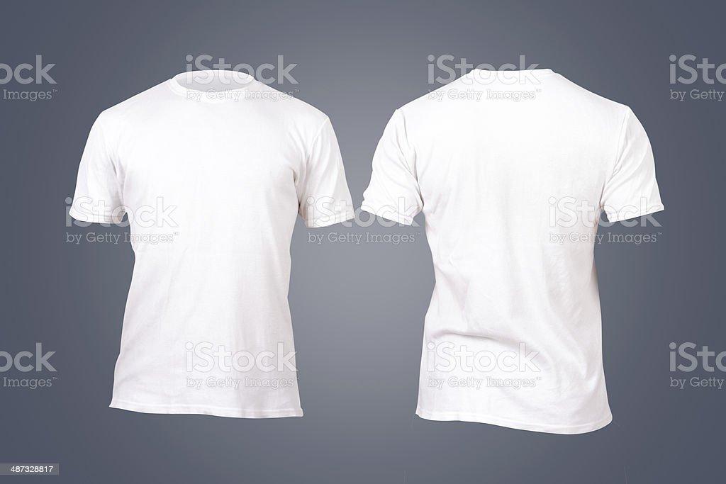 Plantilla de una camiseta blanca - foto de stock