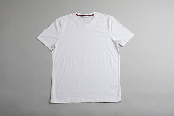 White tshirt template ready for your graphic design. stock photo