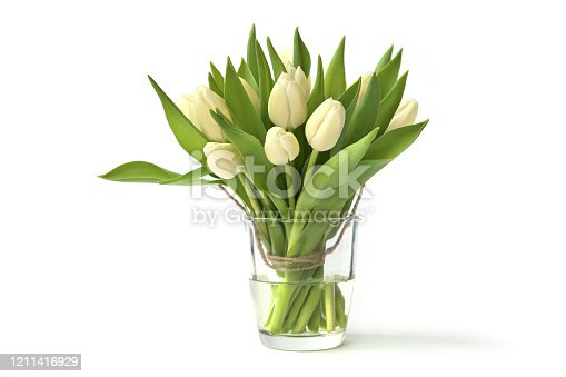 Spring bouquet of fresh tulip flowers.