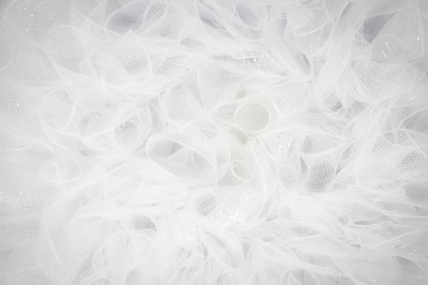 white tulle background - tiul tkanina zdjęcia i obrazy z banku zdjęć