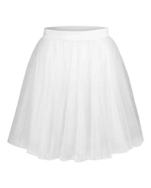 white tulle ballerina skirt isolated - spódnica zdjęcia i obrazy z banku zdjęć