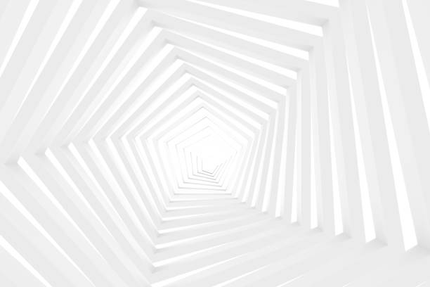 white tunnel, corridor - shape stock pictures, royalty-free photos & images