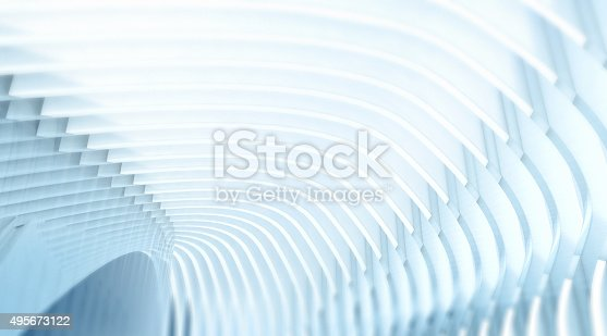 istock White tunnel of arches and glass, abstract architecture background 495673122