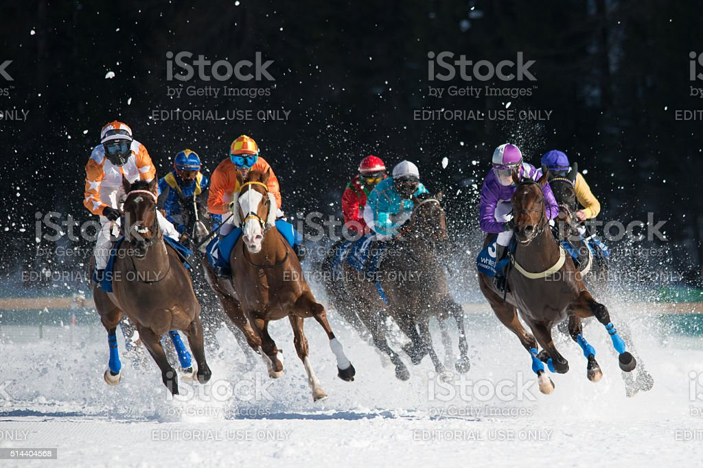 White Turf St. Moritz stock photo