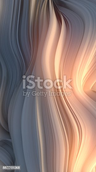 921696186 istock photo White twisted shape. Computer generated abstract geometric 3D render illustration 882255068