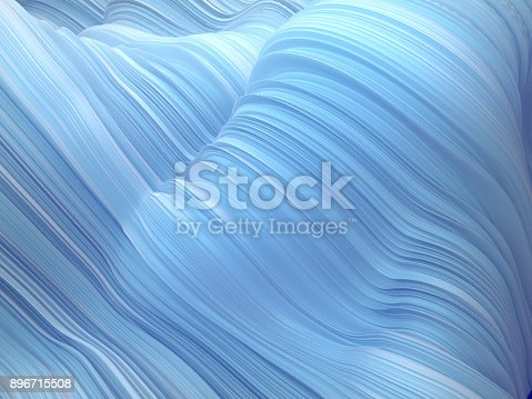 921696186 istock photo White twisted shape. Computer generated abstract geometric 3D render illustration 896715508