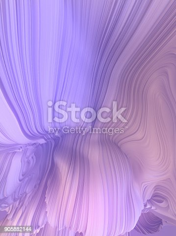 921696186 istock photo White twisted shape. Computer generated abstract geometric 3D render illustration 905882144