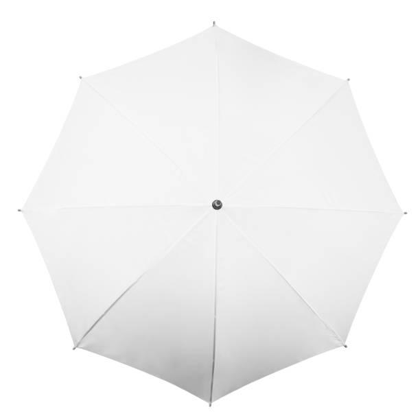 white umbrella on white background - umbrellas stock photos and pictures