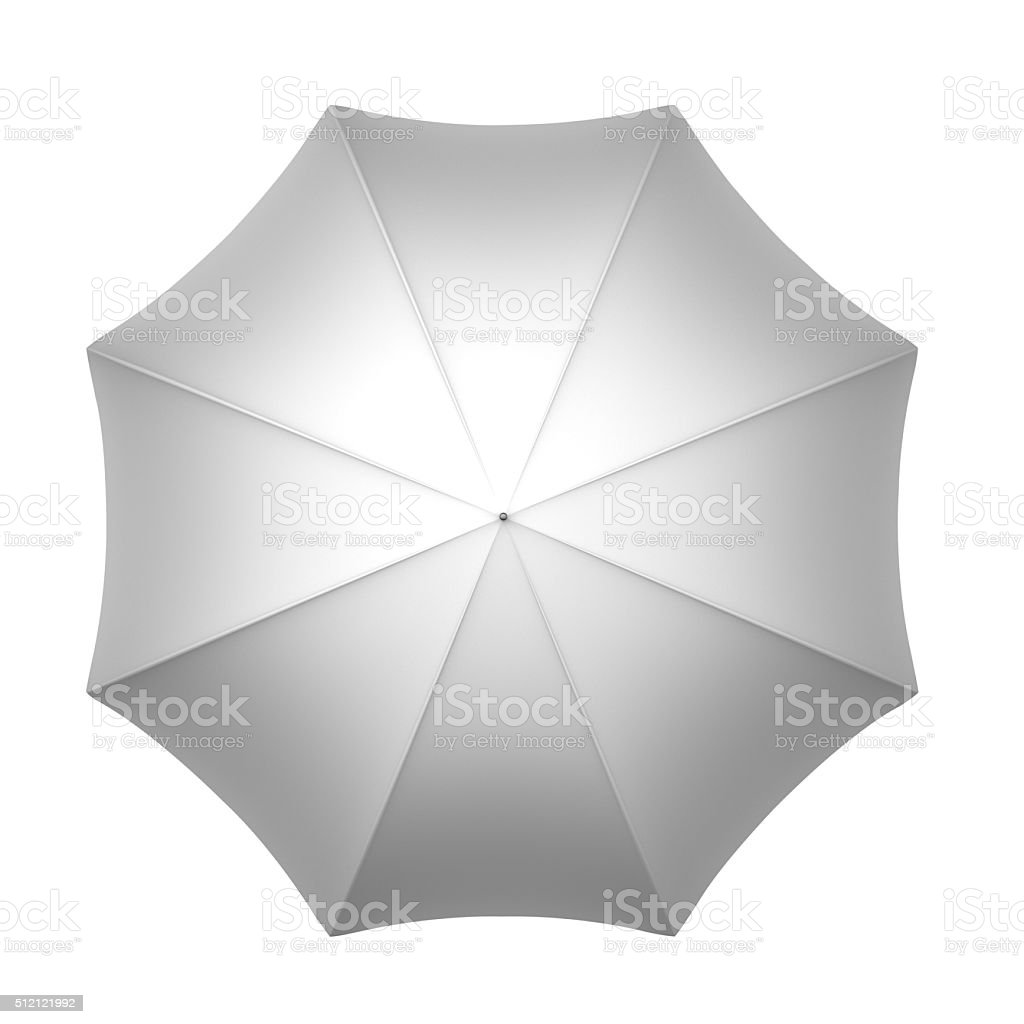 White umbrella stock photo