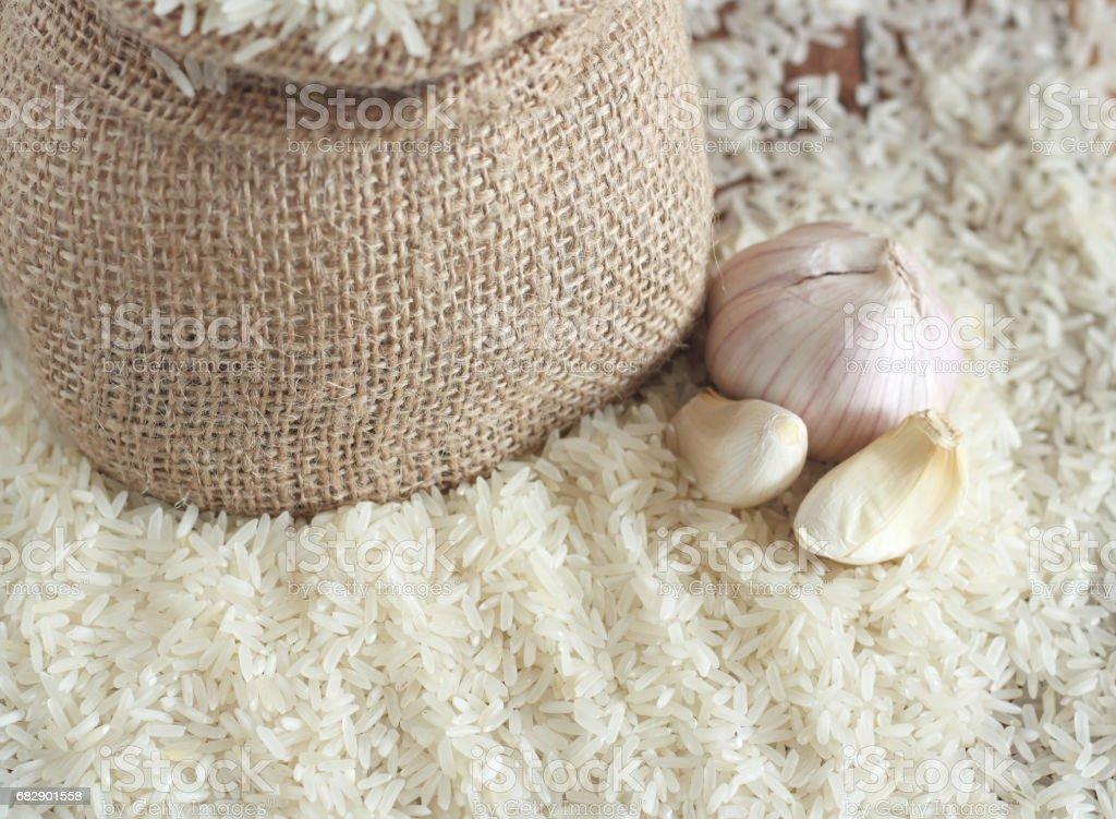 White uncooked rice Lizenzfreies stock-foto