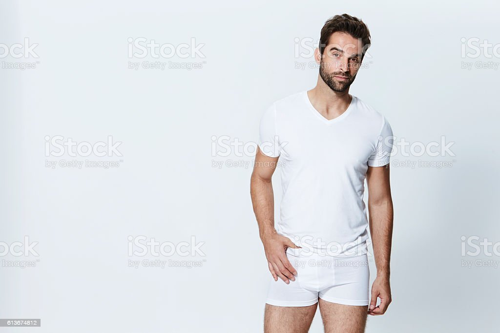 White underpants man – Foto