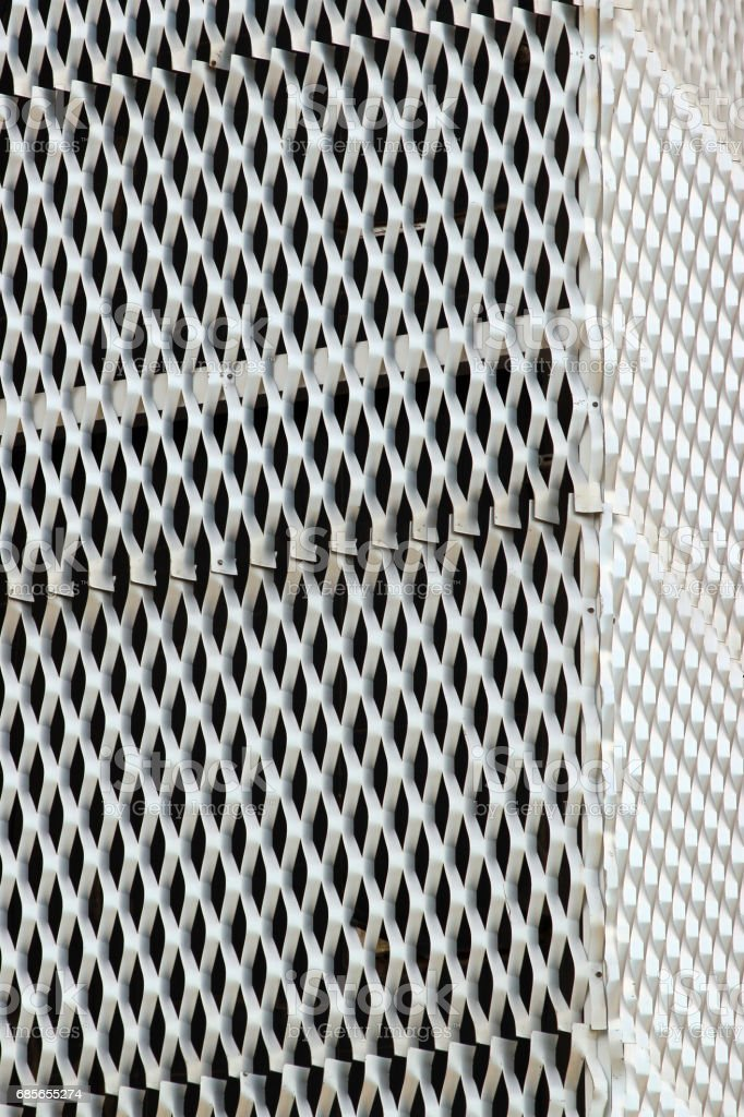 White undulated metal grid foto de stock royalty-free