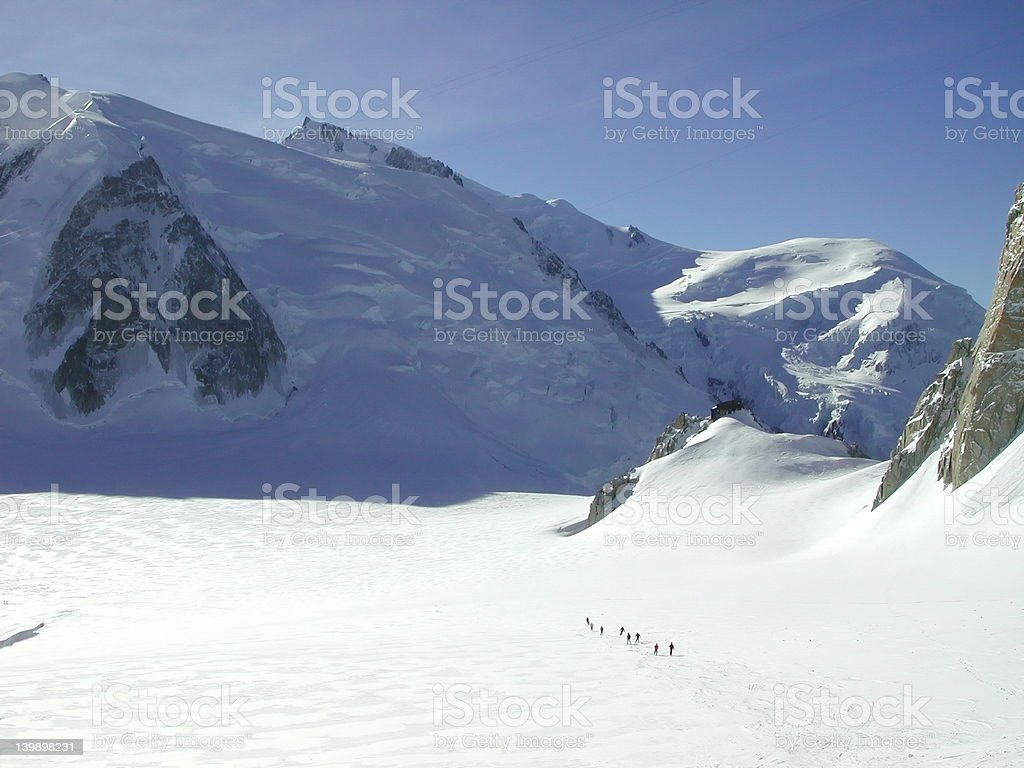 Vallee Blanche 2 royalty-free stock photo