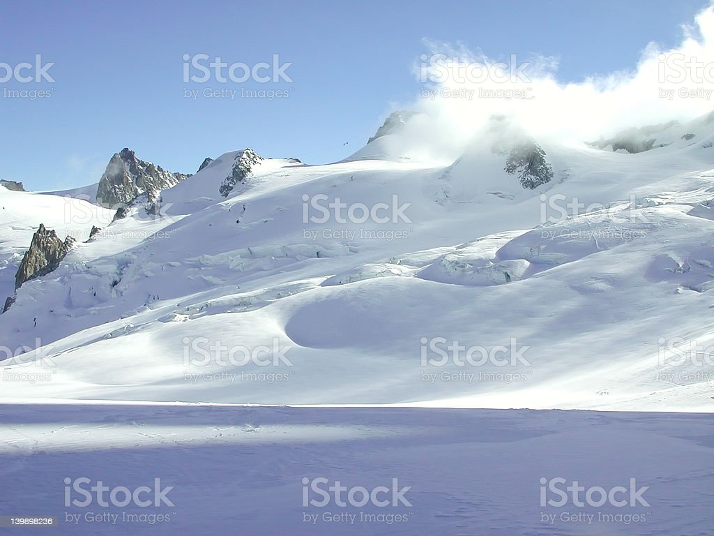 Vallee Blanche 4 royalty-free stock photo