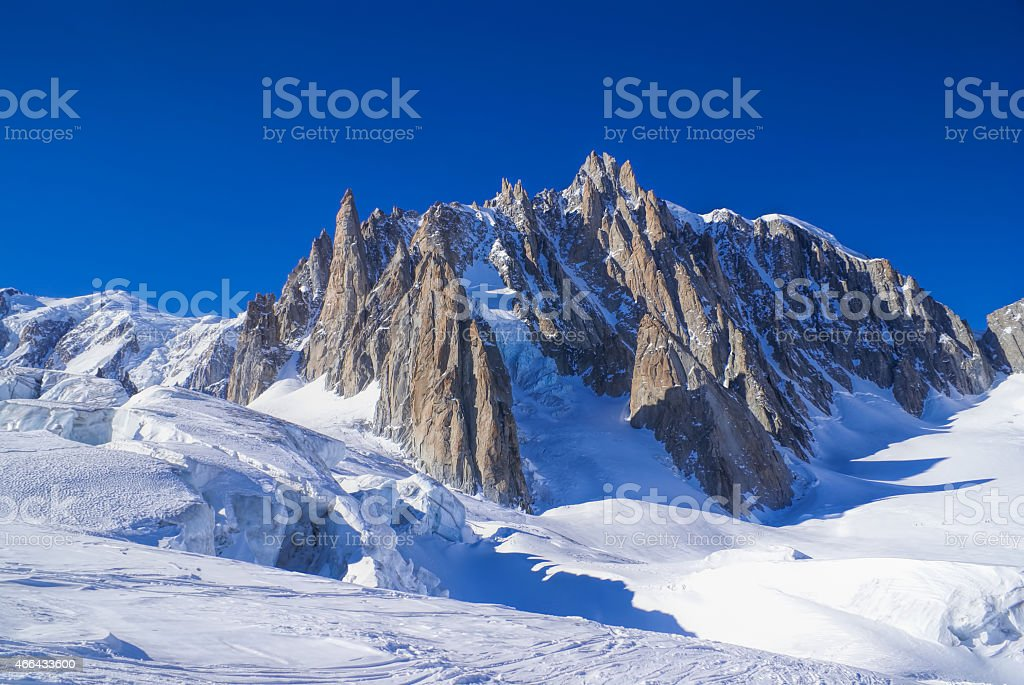 Vallee Blanche stock photo