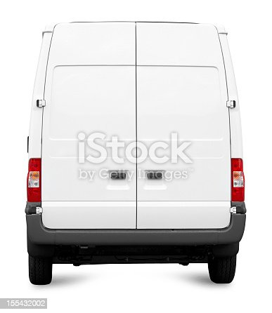 istock White Van from behind isolated 155432002