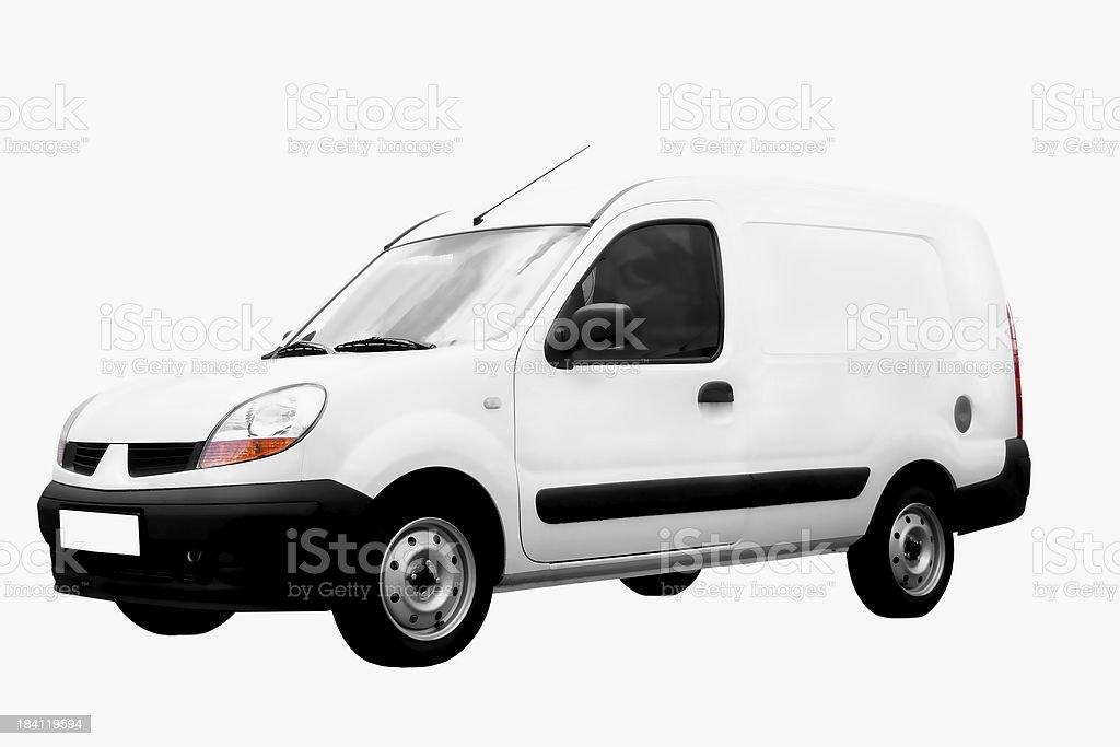 White Van Isolated royalty-free stock photo