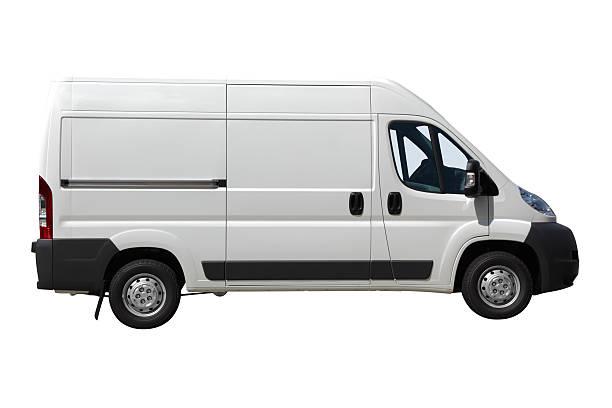 White Van Isolated stock photo