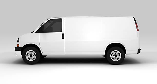 weißer van - kastenwagen stock-fotos und bilder