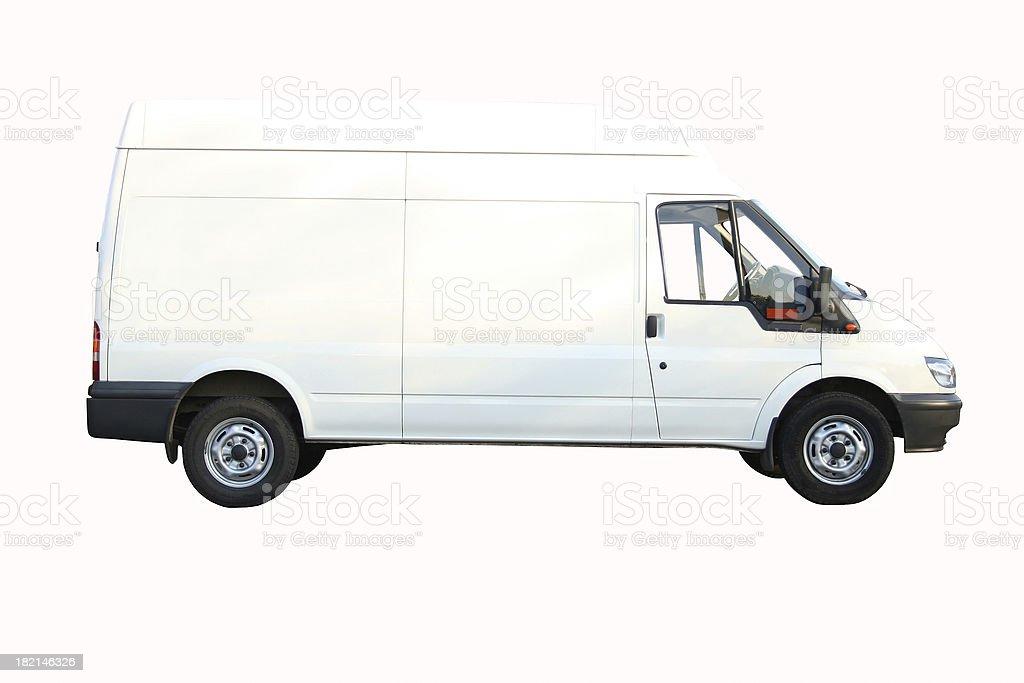 White Van (with path) royalty-free stock photo