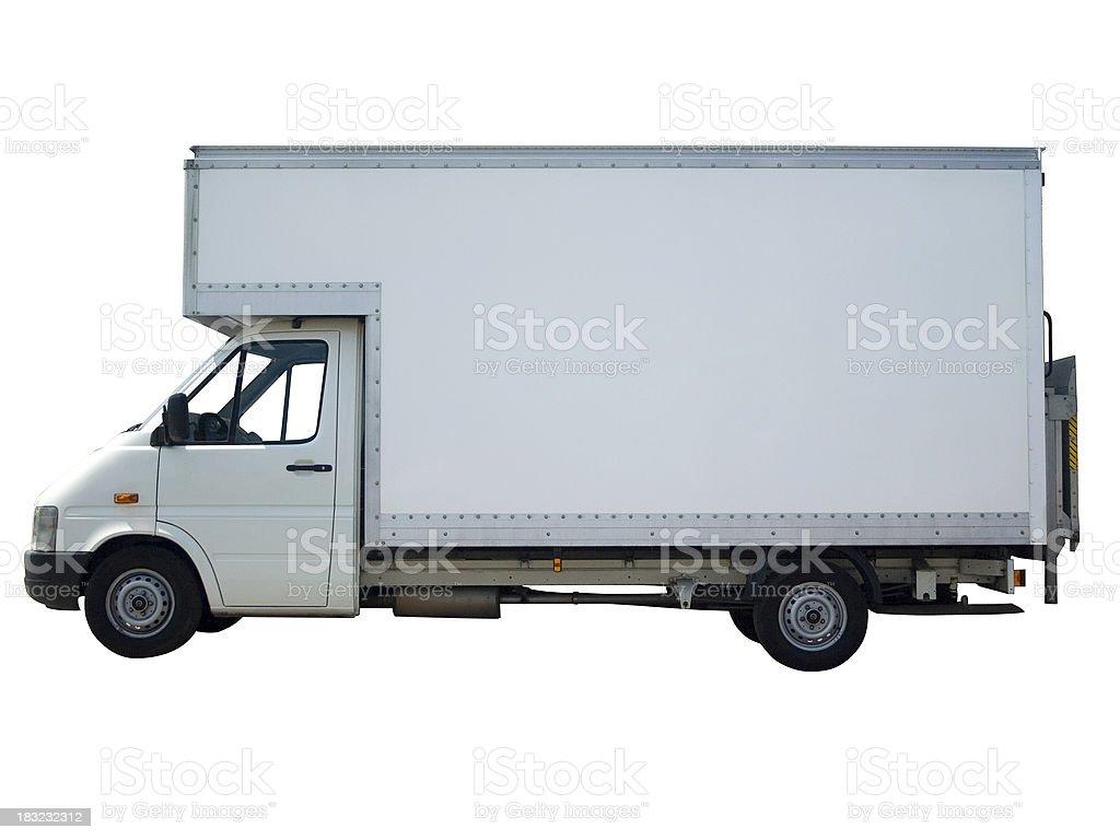 White Van (with path) stock photo