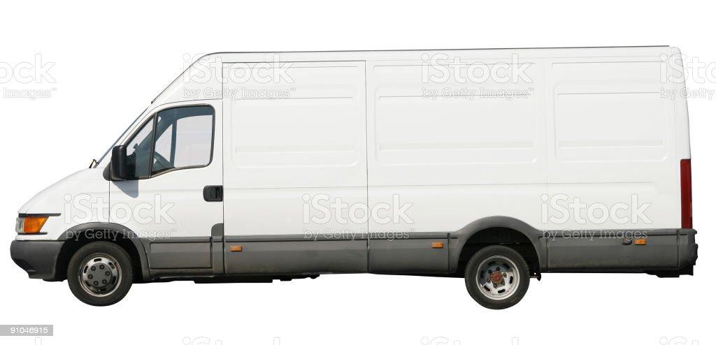 White van stock photo
