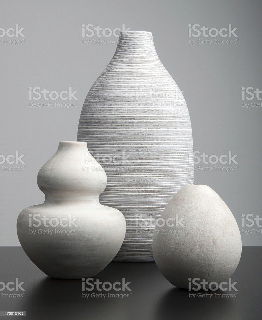 White Vases stock photo