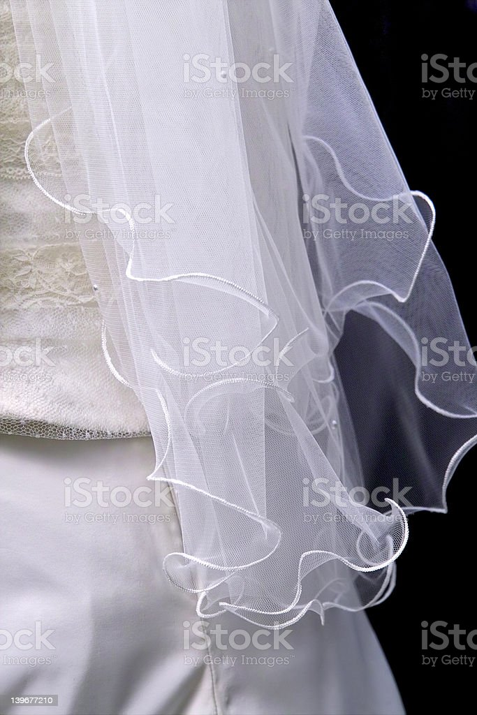 White veil royalty-free stock photo