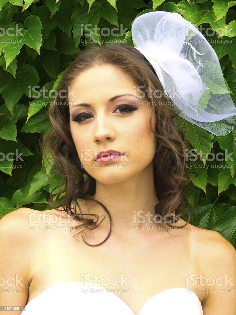 White veil royalty-free stock photo