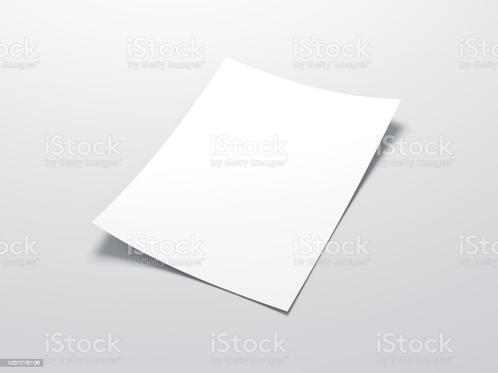 Feuille de papier vertical blanc maquette photo libre de droits