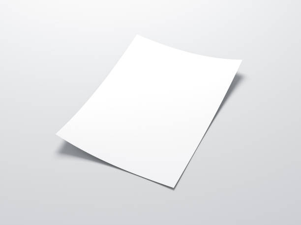 White vertical paper sheet  Mockup stock photo