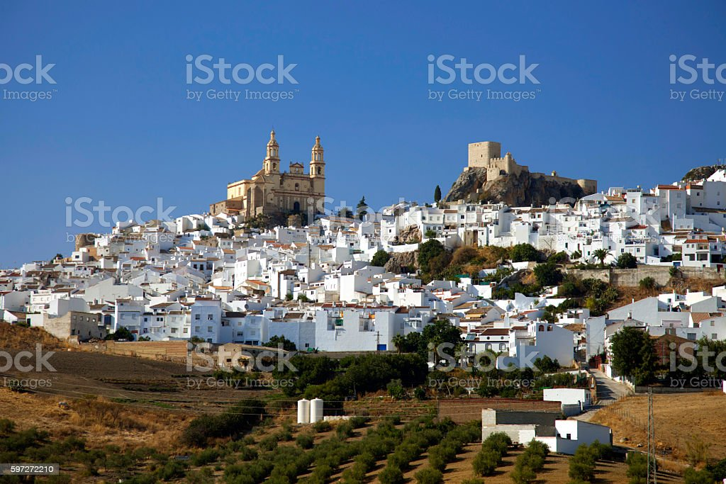 White village in Andalusia Spain royalty-free stock photo
