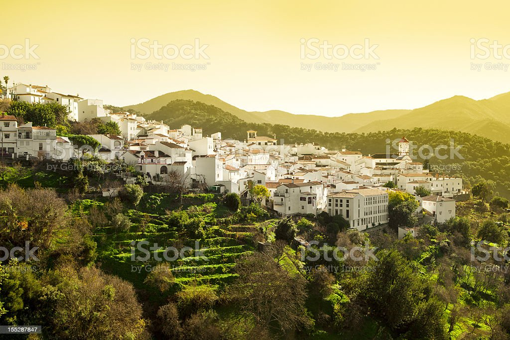 White Village of Genalguacil in Spain royalty-free stock photo