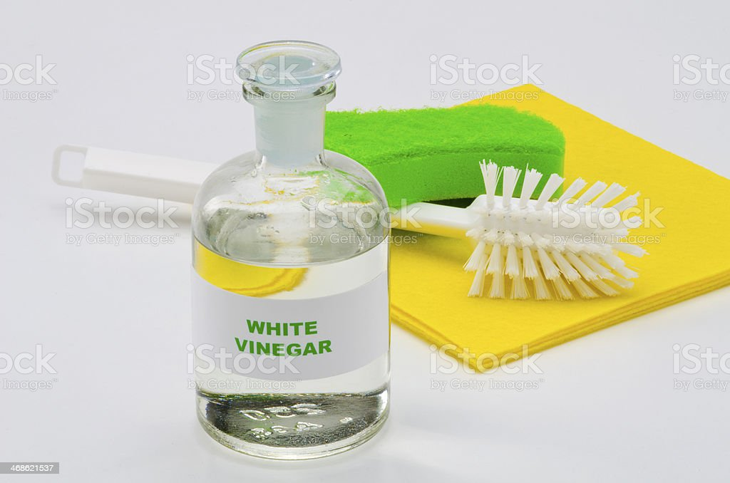White vinegar stock photo